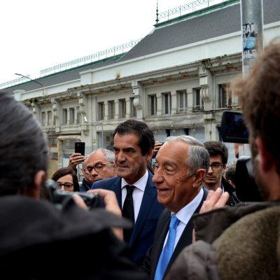 Marcelo Rebelo de Sousa e o presidente da Câmara do Porto mantiveram-se juntos e bem dispostos durante a visita.