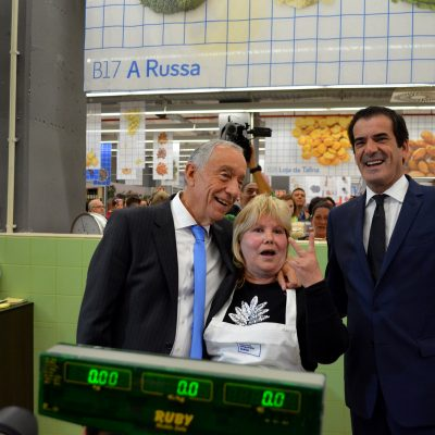 Os comerciantes mostraram-se contentes com a visita do presidente da República e da autarquia do Porto.