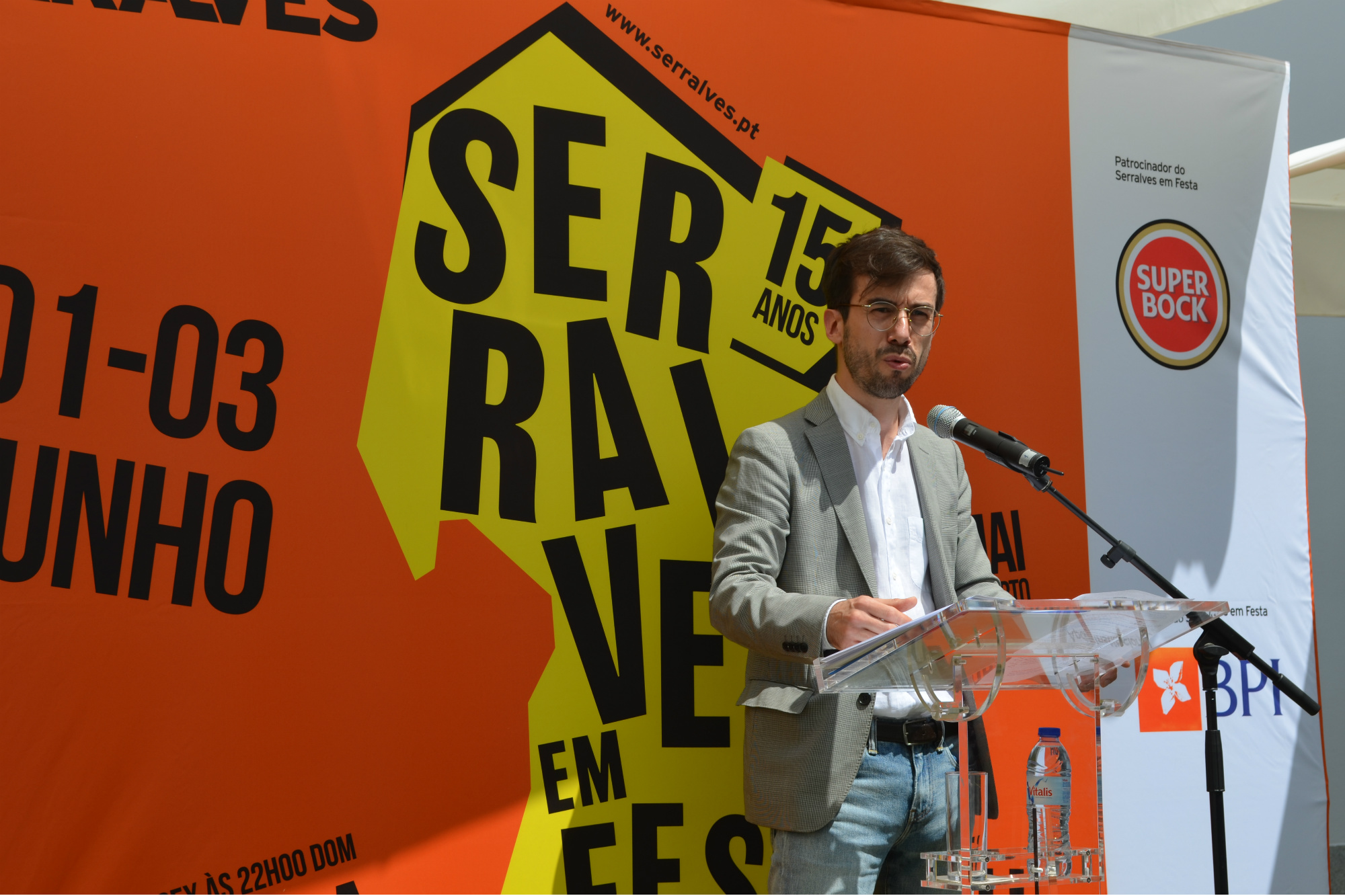 João Ribas apresentou o programa durante a conferência de imprensa esta terça feira. Foto: Ana Jorge Teixeira