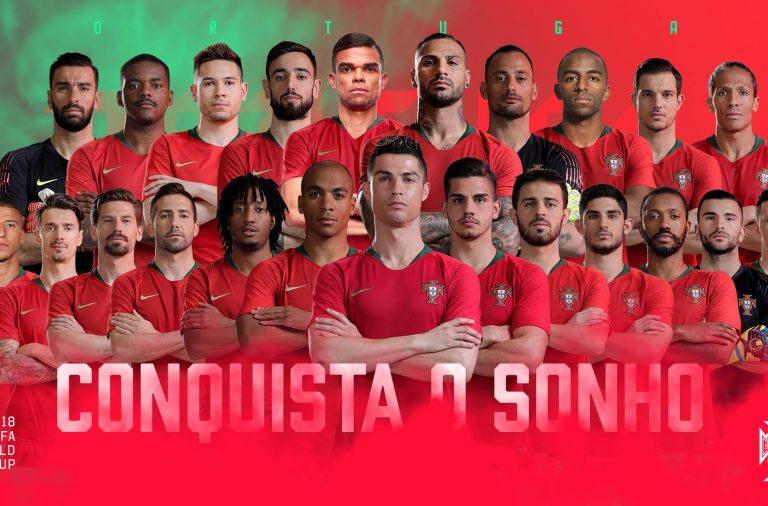 Os 23 escolhidos por Fernando Santos para o Mundial da Rússia.