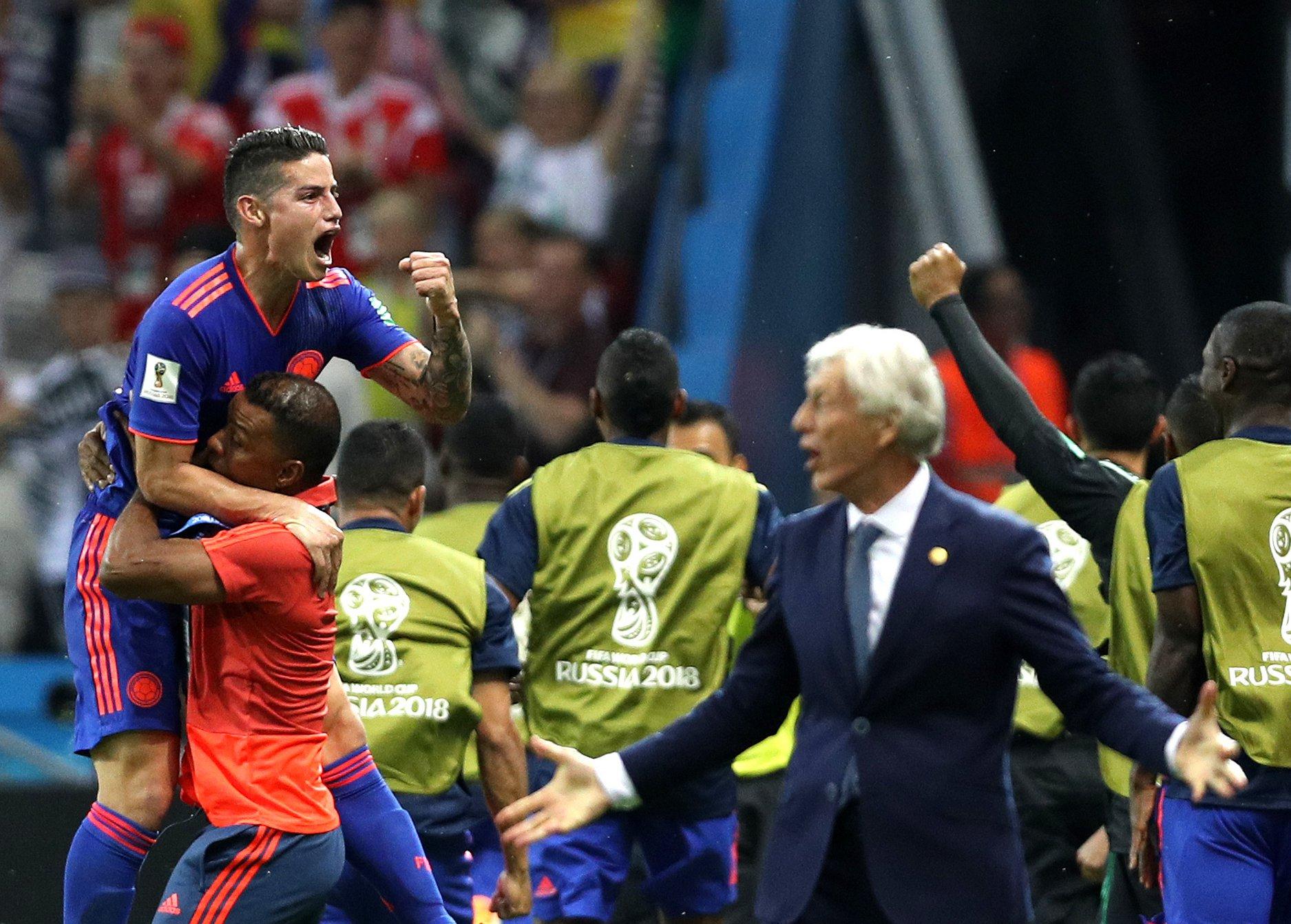 James Rodríguez não marcou mas foi fundamental na manobra ofensiva da Colômbia.