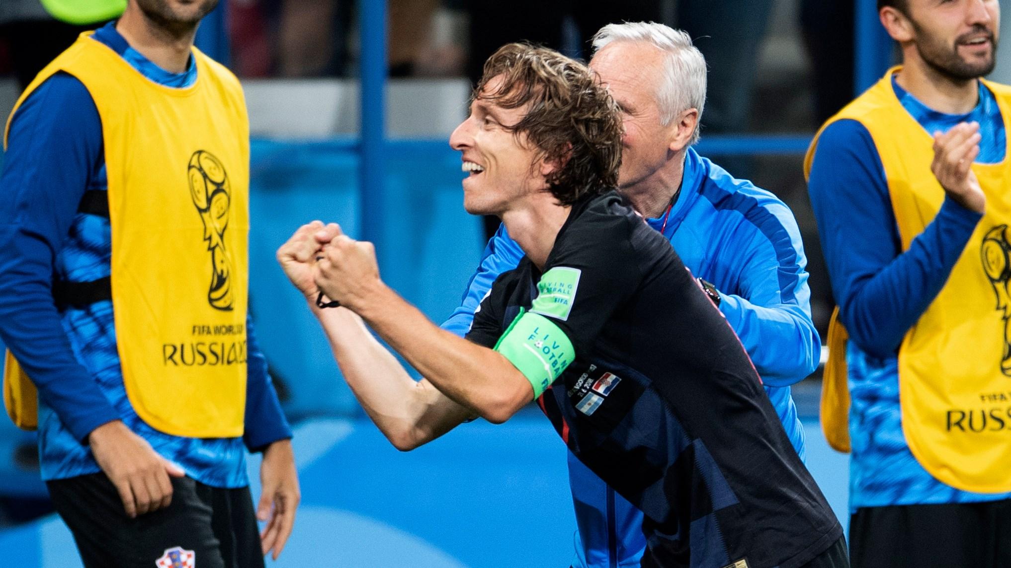 Modric fez o golo do jogo e foi um dos homens do encontro.