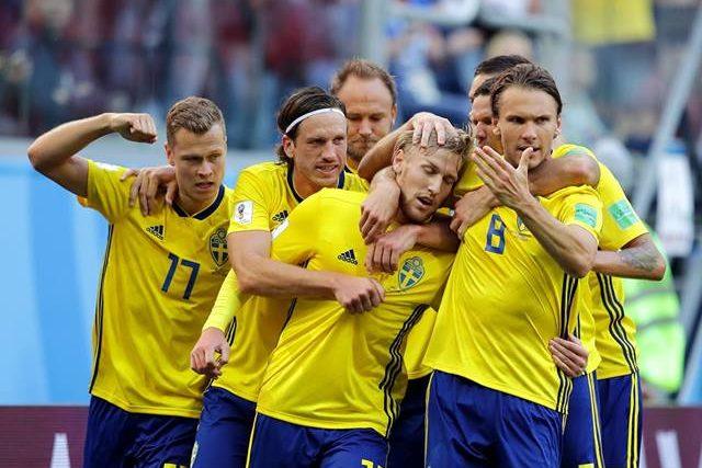 A Suécia afastou a Suíça nos oitavos de final.
