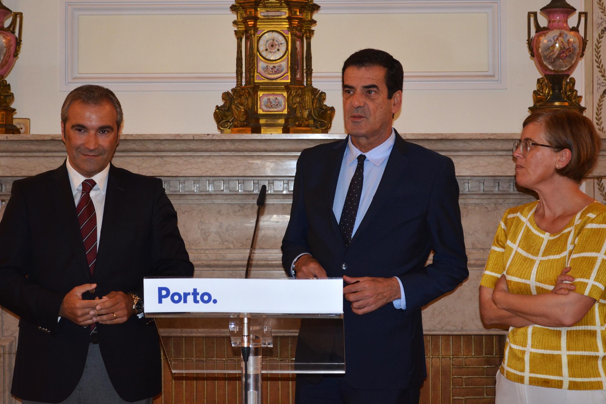 Manuel Paulo Teixeira, Rui Moreira e Cristina Pimentel