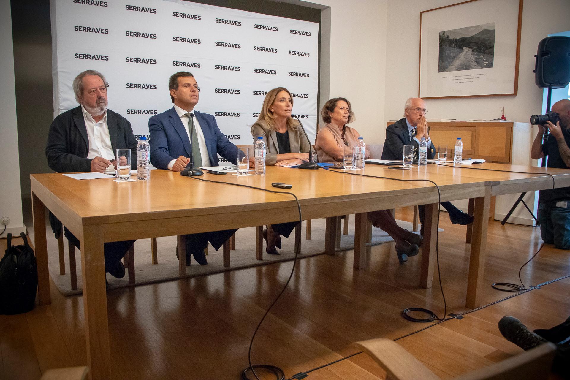 Conselho de Administração na conferência de imprensa desta quarta-feira.