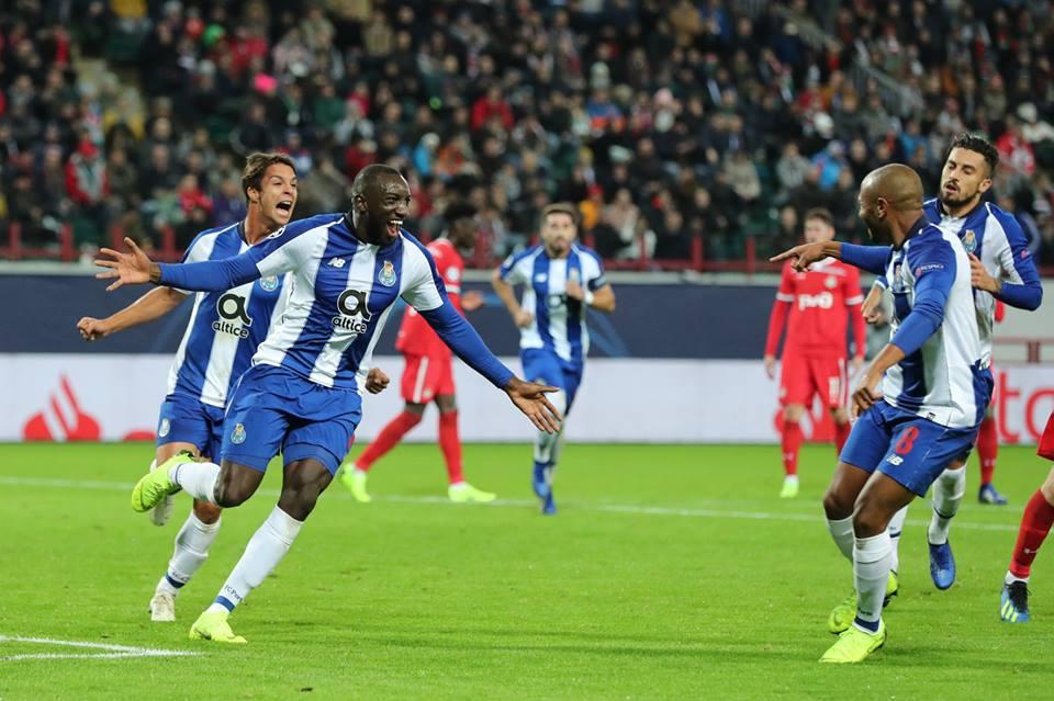 Marega abriu o marcador para a equipa portuguesa.