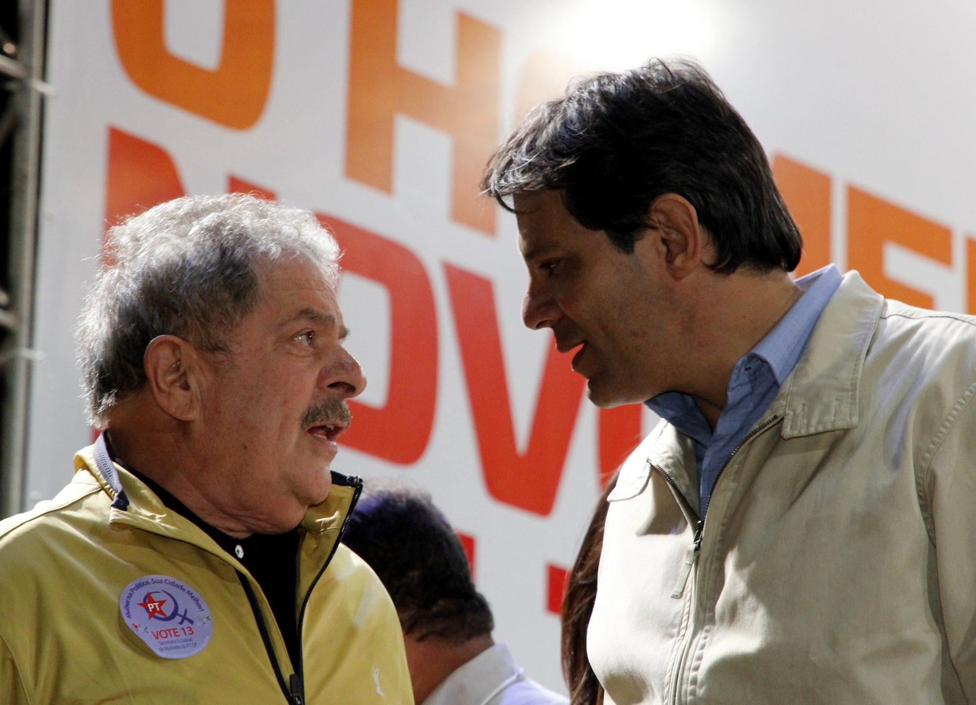 Fernando Haddad foi o homem escolhido pelo ex-presidente Lula.