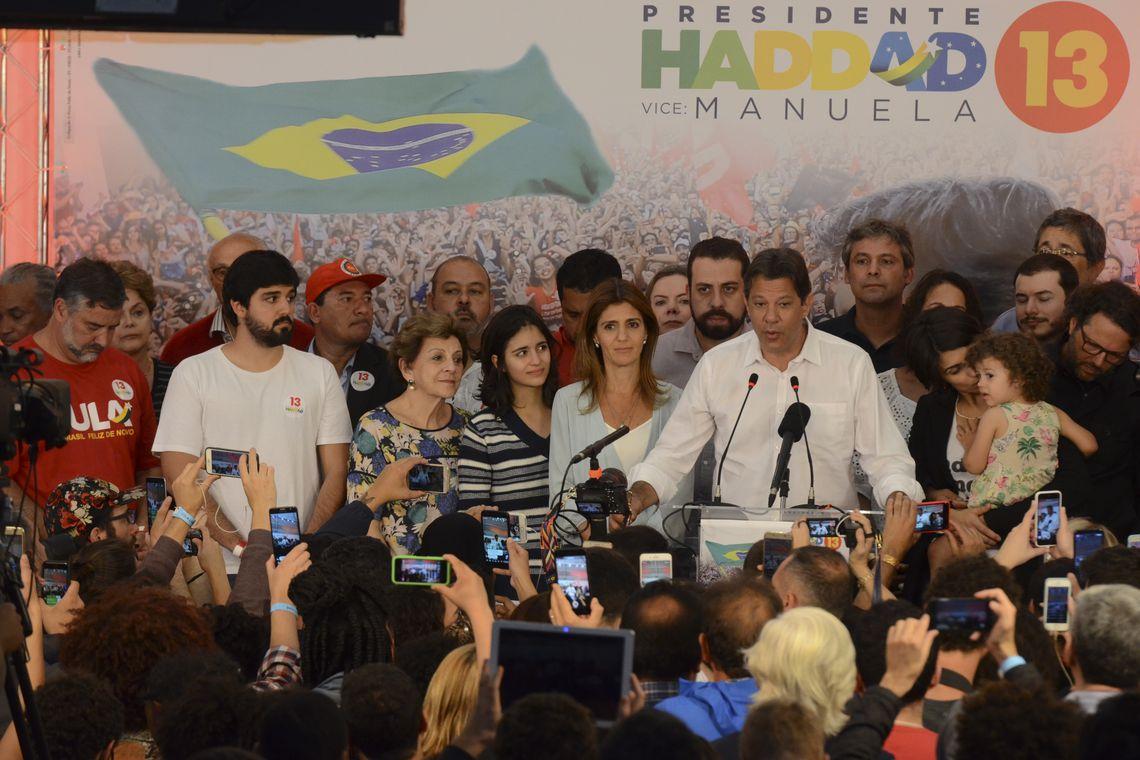 Discurso de Haddad depois de conhecidos os resultados eleitorais.