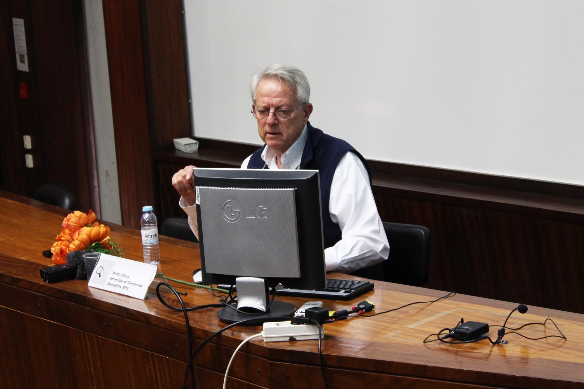 Walter Dean na sessão de abertura do #6COBCIBER