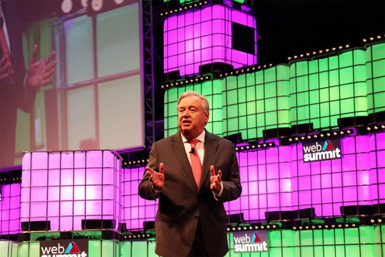 Para António Guterres, a inovação tecnológica tem que ser usada para o bem.