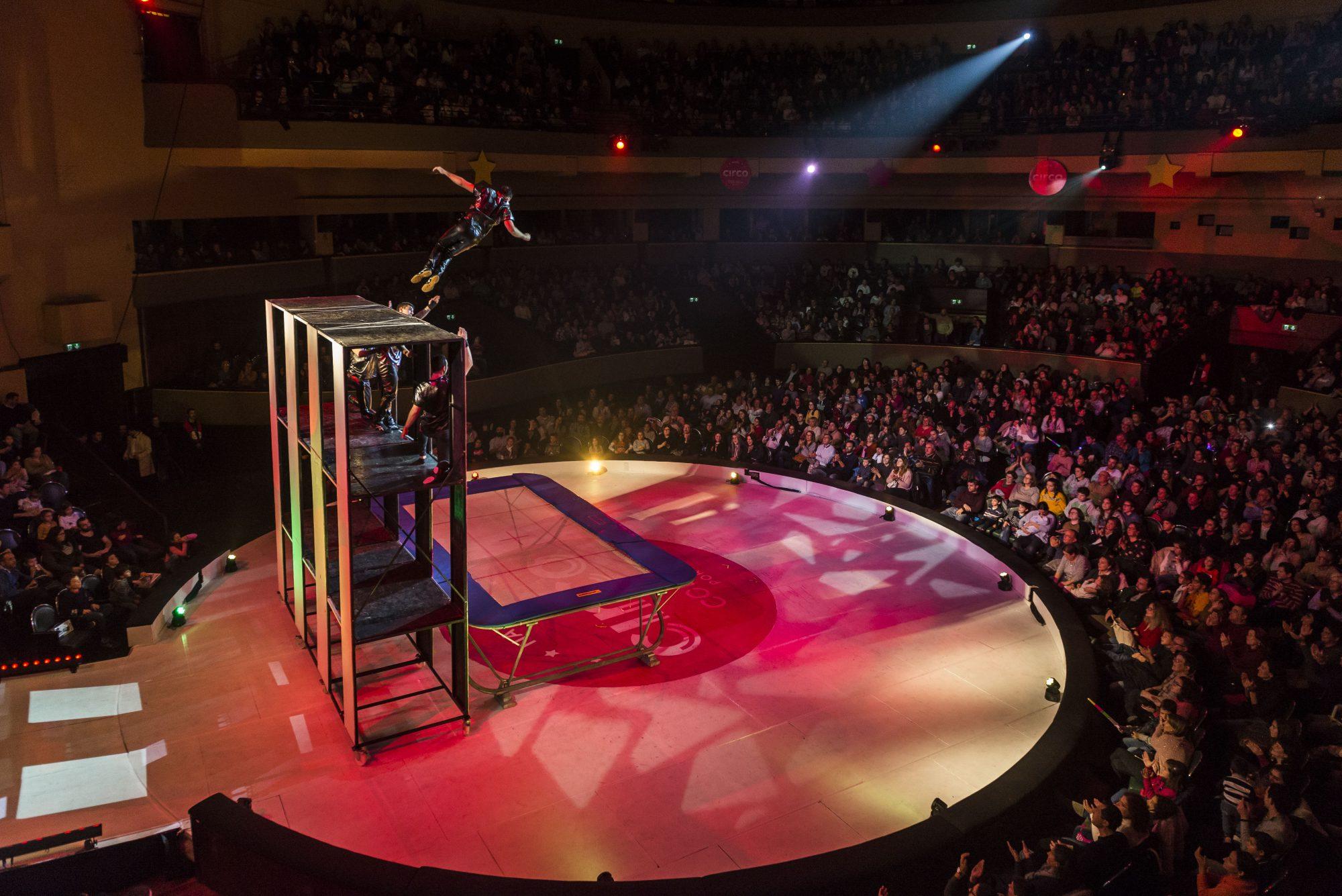 O circo é um dos eventos mais populares do Coliseu.