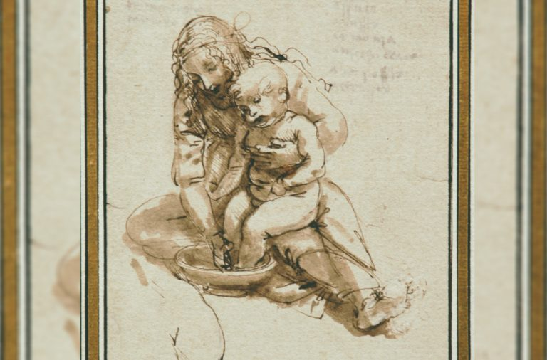 Desenho original de da Vinci está na FBAUP desde o século XIX.