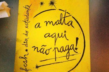 Cartaz da década de noventa dos estudantes da FCSH (U.Nova de Lisboa)