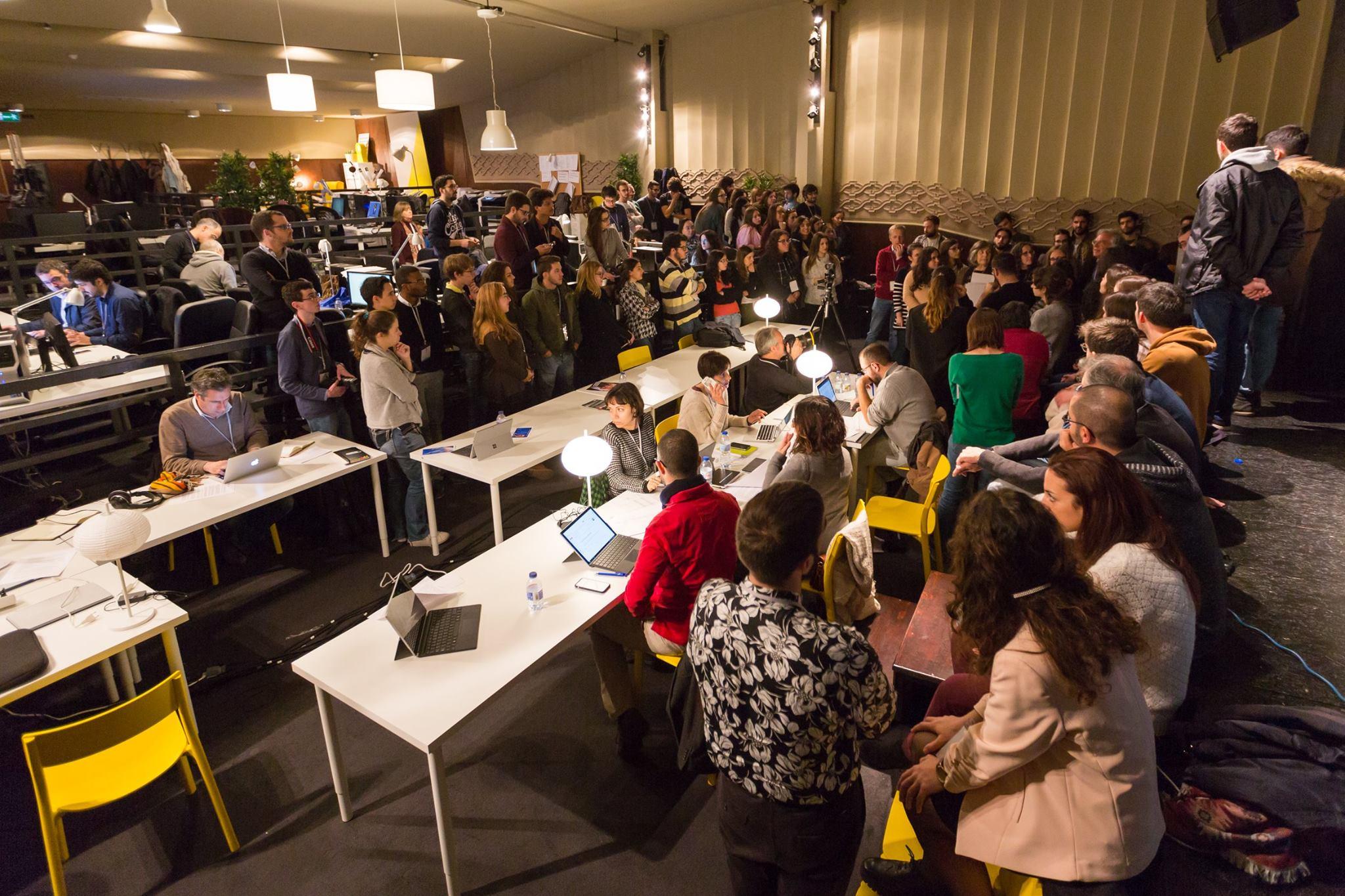 Cerca de 80 estudantes integraram a redação que cobriu o Congresso dos Jornalistas em 2017.