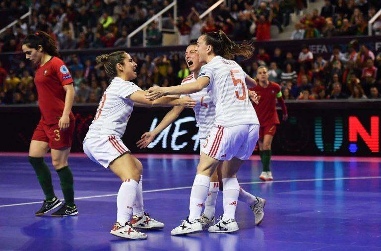 Espanha conquistou o primeiro Campeonato Europeu de Futsal Feminino ... eaaf774434c88