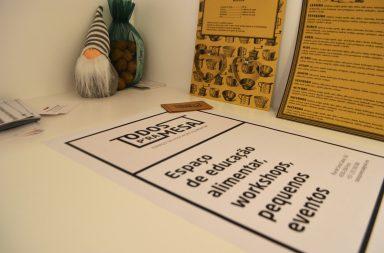 """O """"Todos P'ra Mesa"""" é um espaço de educação alimentar, workshops e pequenos eventos."""