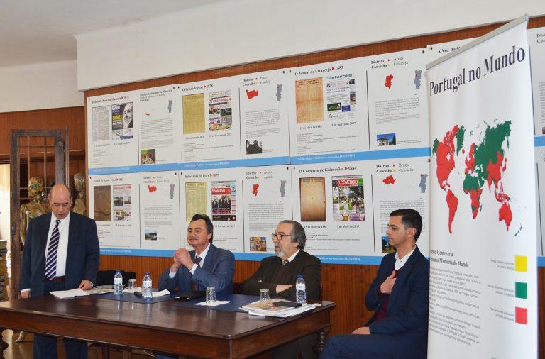 Sessão Pública do acordo entre a Associação de Imprensa Portuguesa e a Google, na Associação de Jornalistas e Homens de Letras do Porto