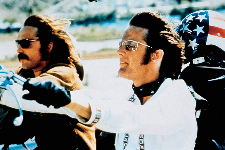 """Dennis Hopper e Peter Fonda em """"Easy Rider"""", de 1969."""