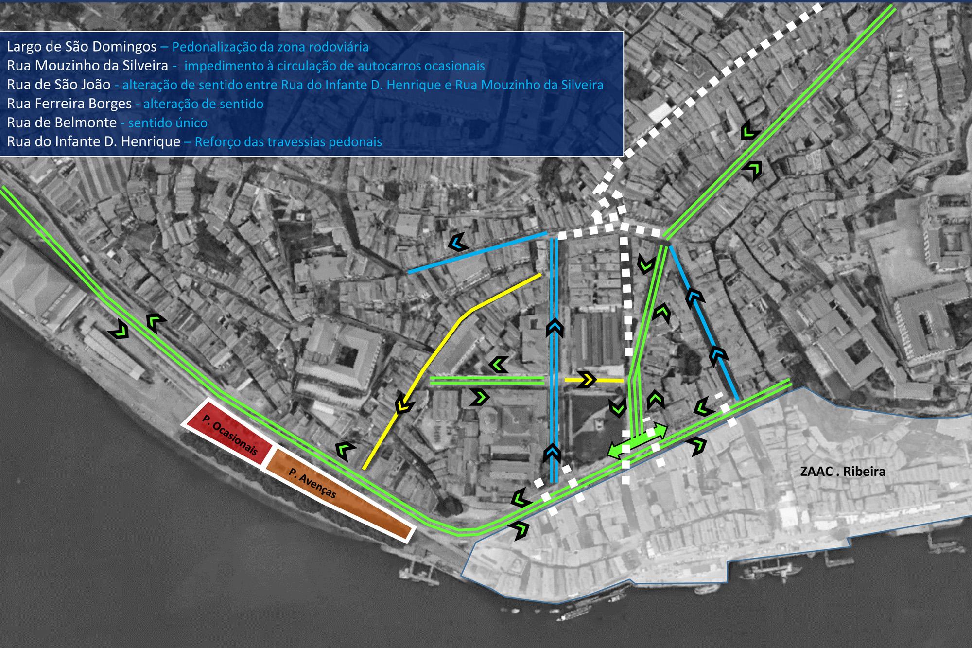 Autarquia estuda alterações nos fluxos de trânsito da zona histórica.