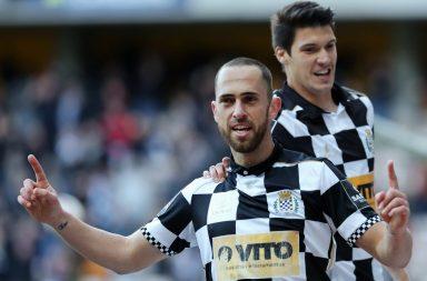 Rafael Costa festeja o golo que deu os três pontos ao Boavista.