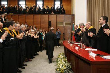 A sessão solene contou com representantes da comunidade FMUP e teve Miguel Tamen como convidado.