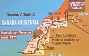 Mapa do Sahara Ocidental.