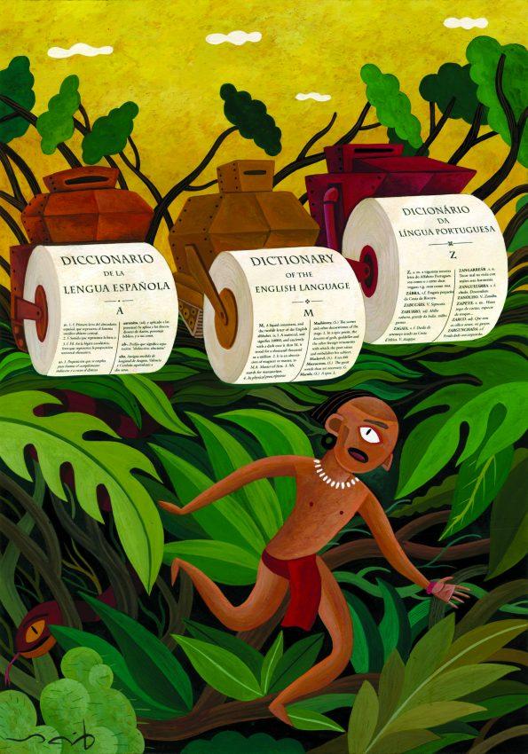 A ilustração que recebeu o 3º prémio.