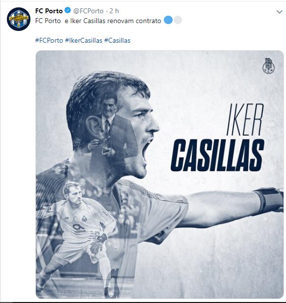 Renovação contrato de Iker Casillas