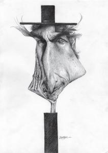 Vencedor da categoria Especial de Caricatura Bob Dylan.