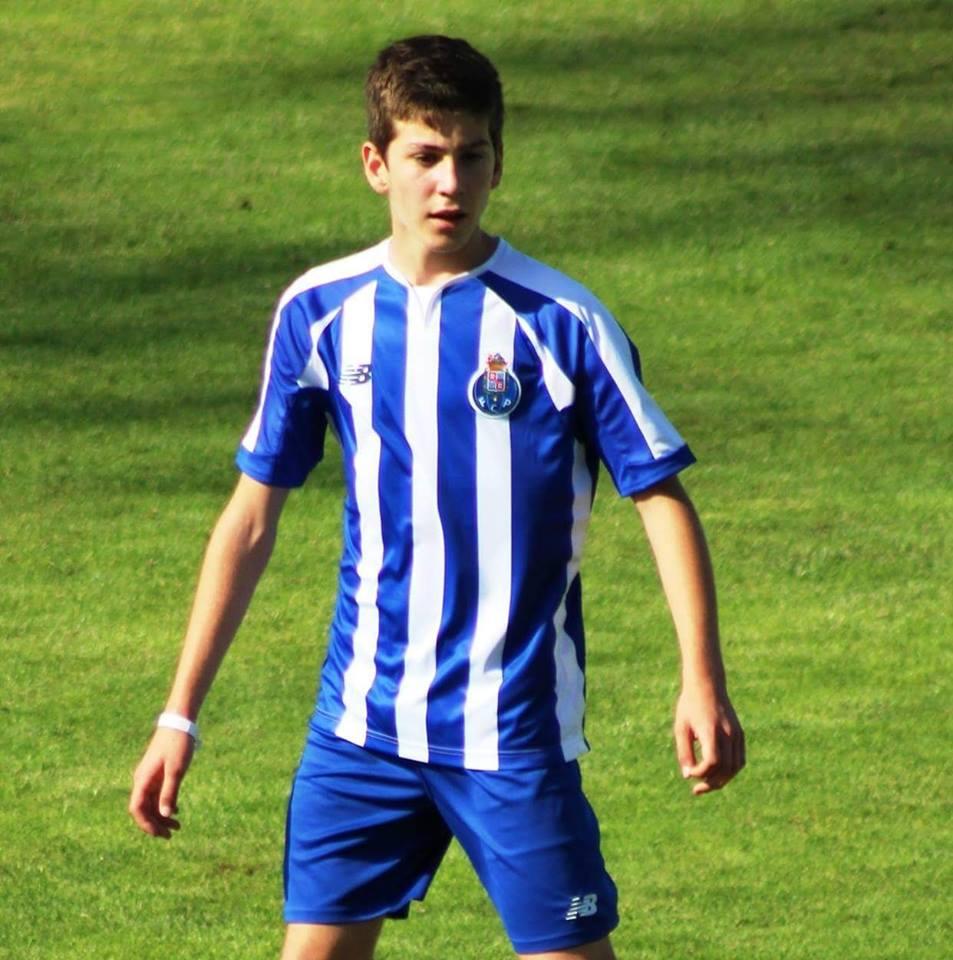 David Vinhas em ação pela equipa do FC Porto.