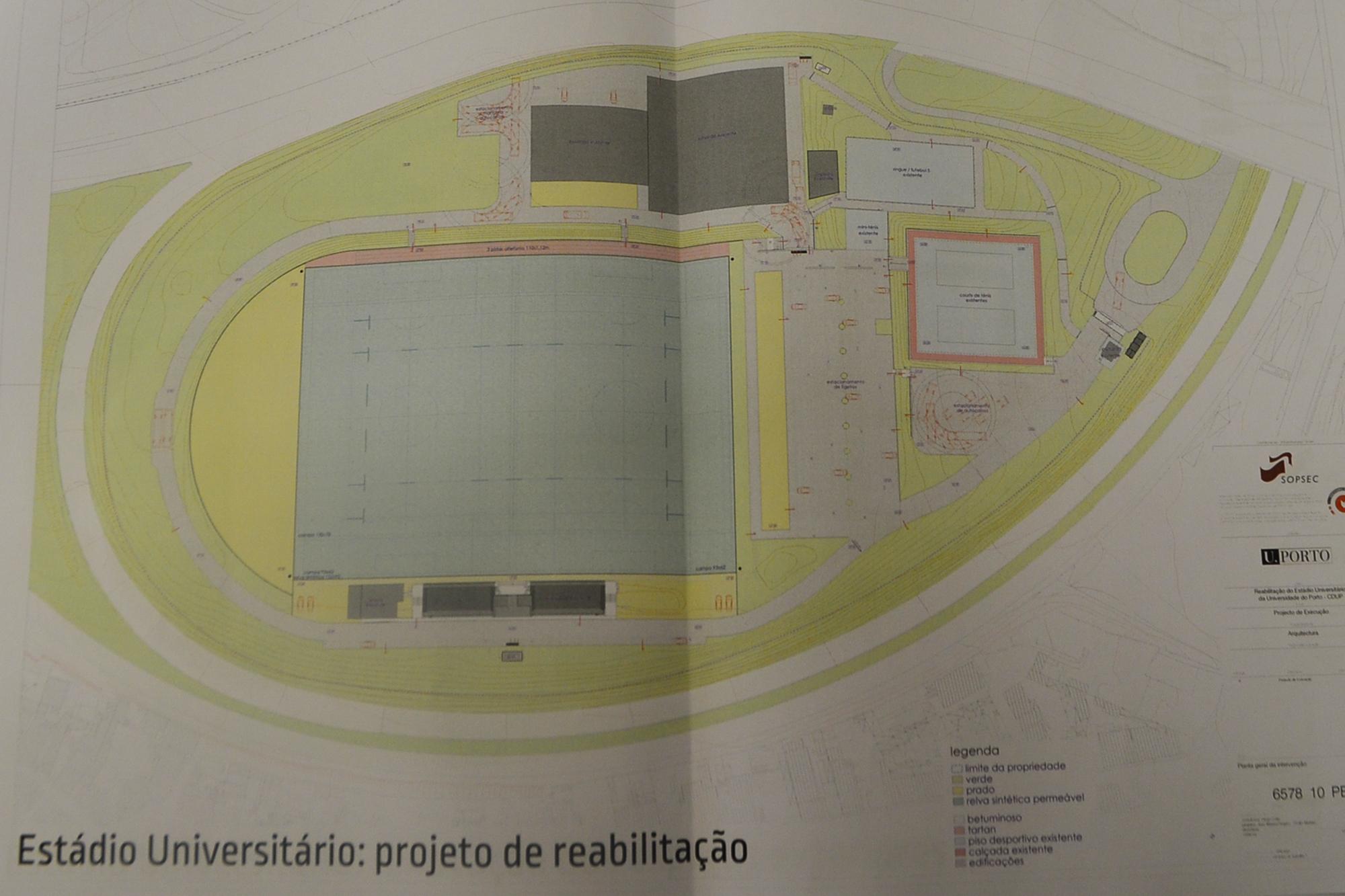 Projeto de reabilitação do Estádio Universitário