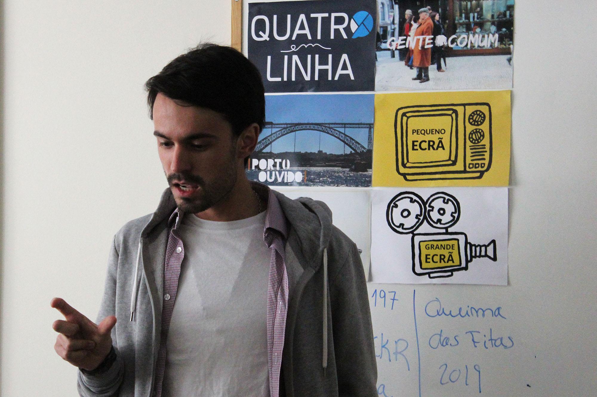João Porfírio partilhou experiências profissionais com alunos de jornalismo.