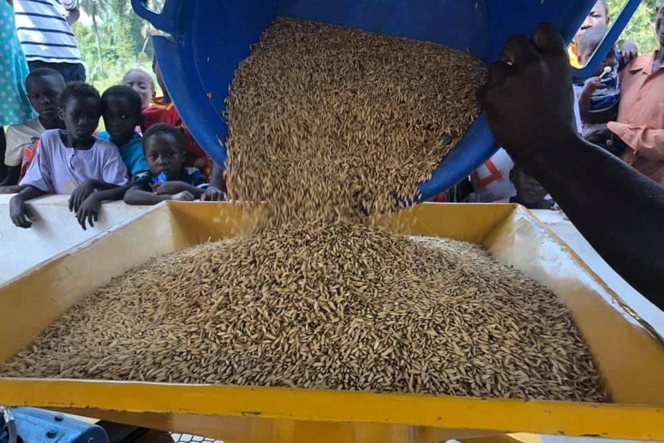 Com a maquina de descascar arroz, as mulheres podem dedicar o seu tempo a outras atividades