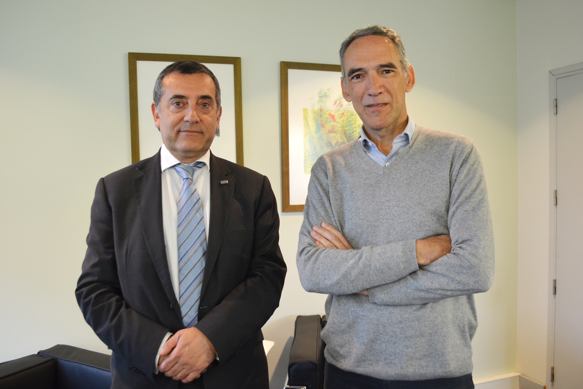 João Falcão e Cunha, diretor da FEUP, e Francisco Viegas, pró-diretor da FEUP.