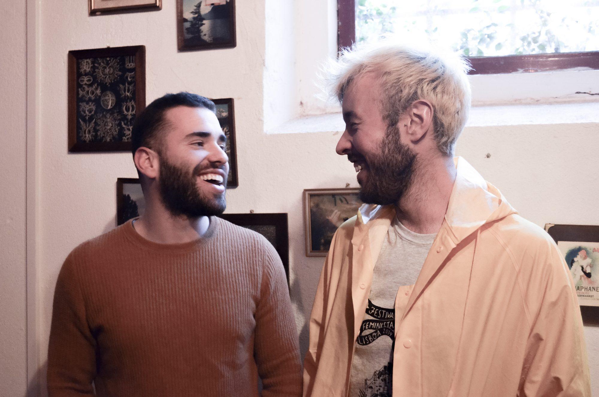 João Caçador e Tiago Lila, da esquerda para a direita