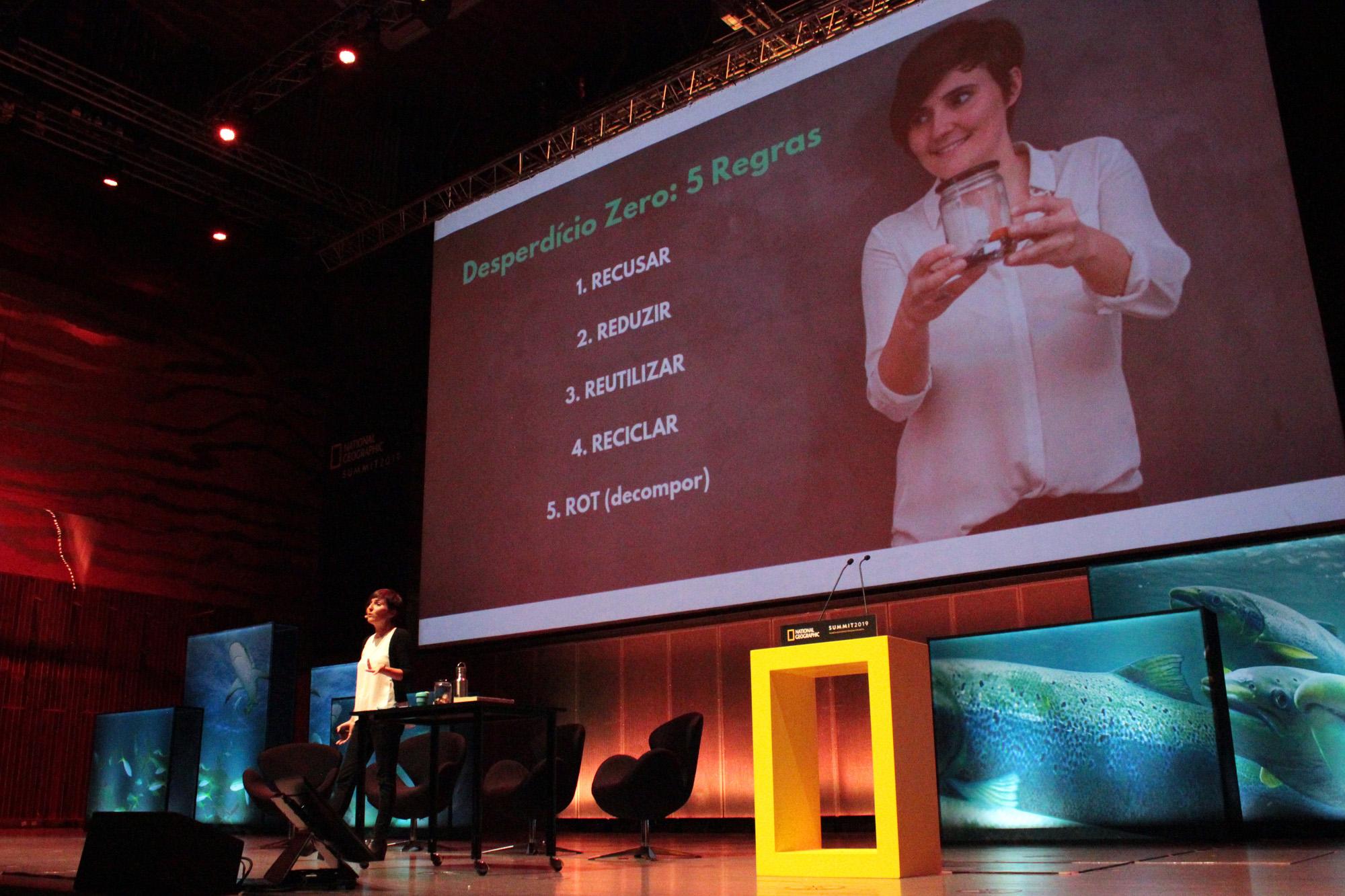 Ana Milhaezs na National Geographic Summit, que decorreu na Casa da Música.