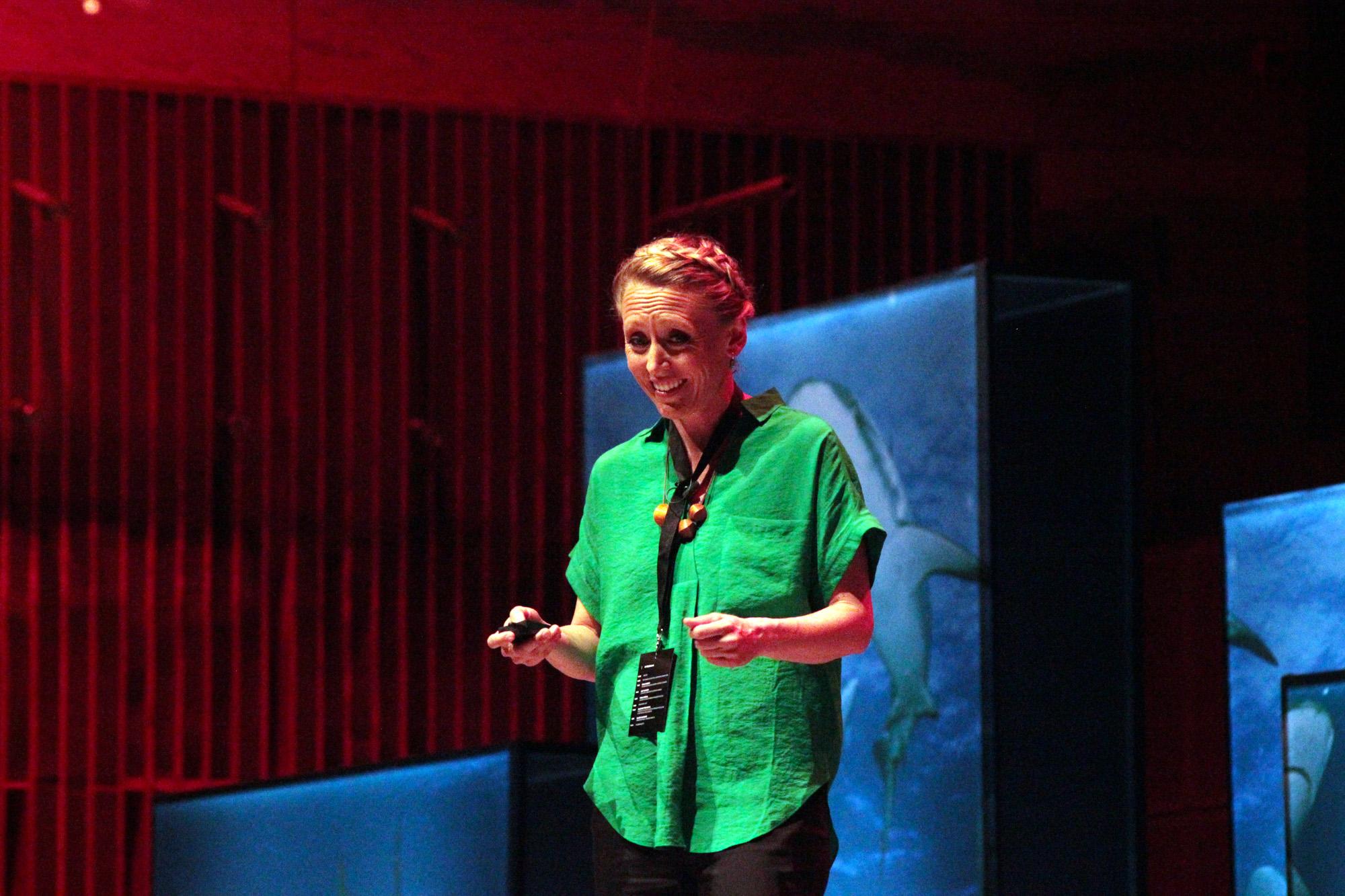 Lucy Hawkes é bióloga e também passou pelo ational Geographic Summit.