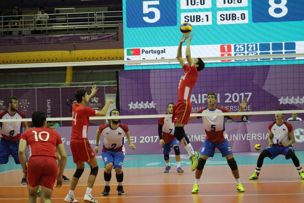 Em Taipé, Portugal conquistou um diploma no voleibol por ter terminado a prova masculina na oitava posição.