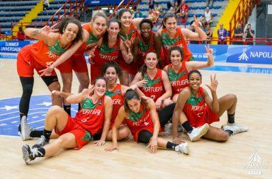 Bronze de Nápoles é a primeira medalha mundial do basquetebol feminino português.