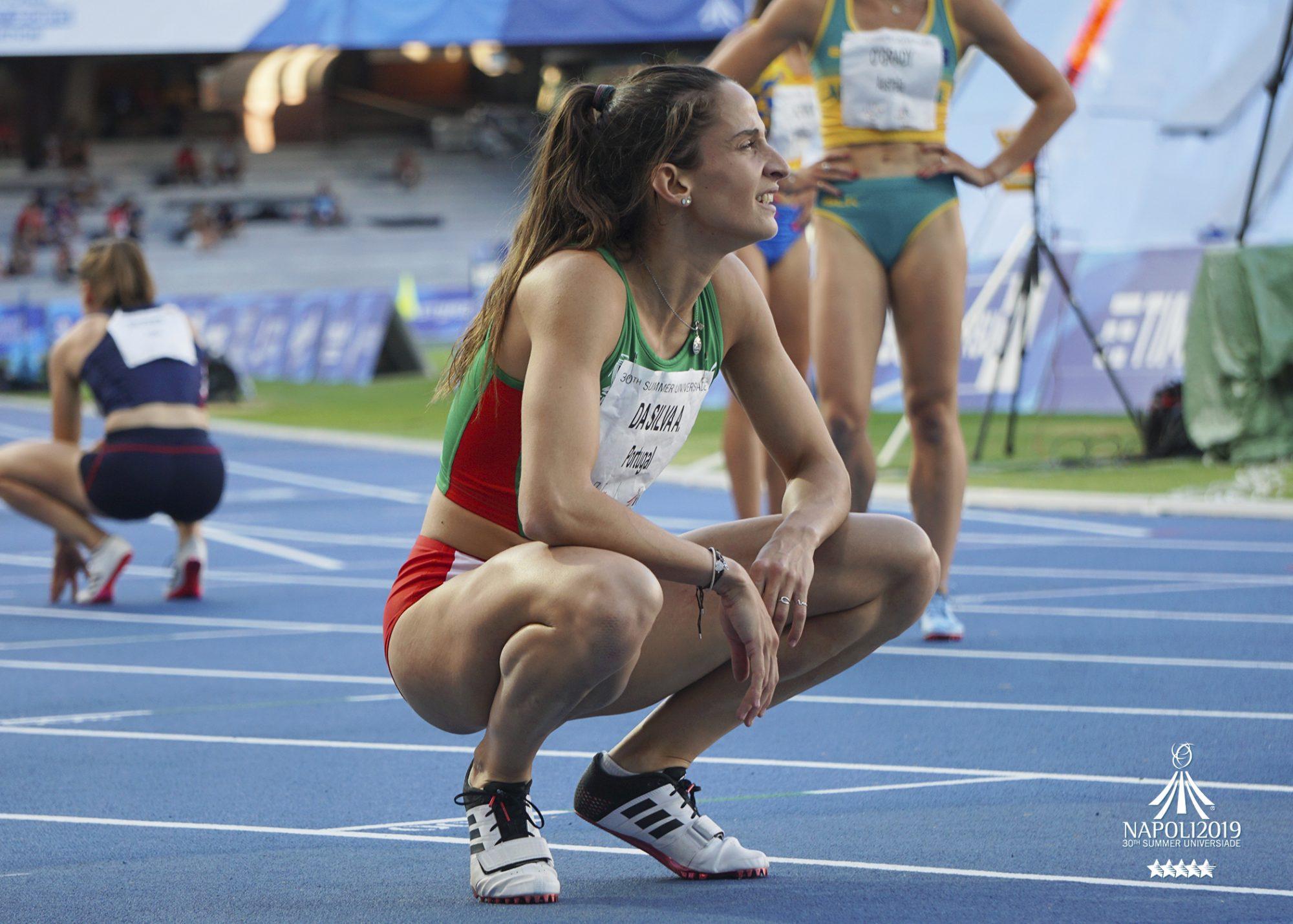 Cátia Azevedo foi a quinta melhor nos 400 metros planos.
