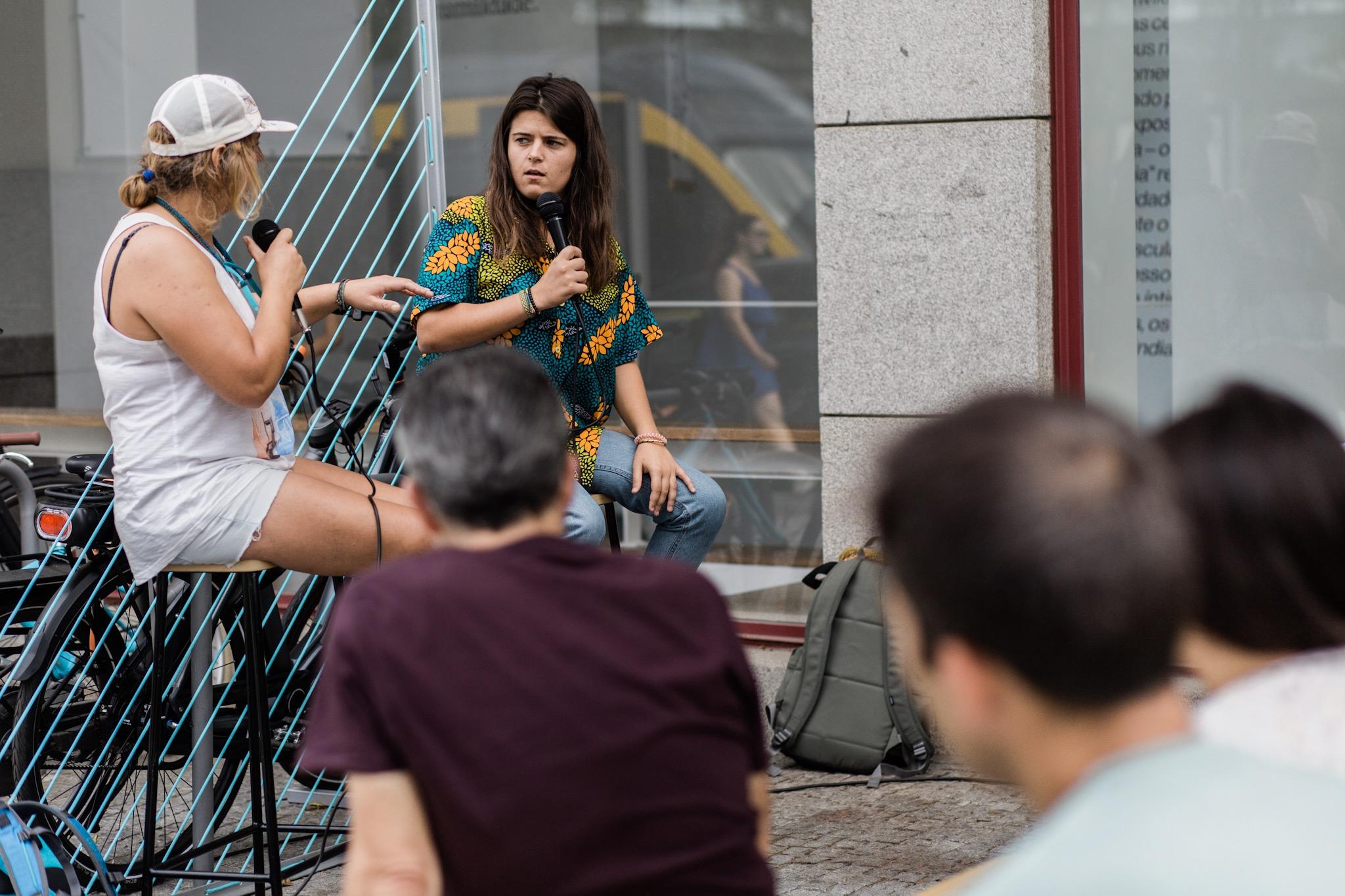 Tânia Muxima e Marta Durán à conversa em Matosinhos.