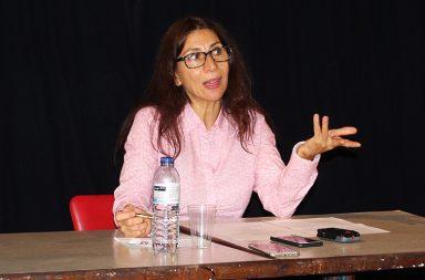 Né Barros, codiretora do festival, na apresentação da programação deste ano.