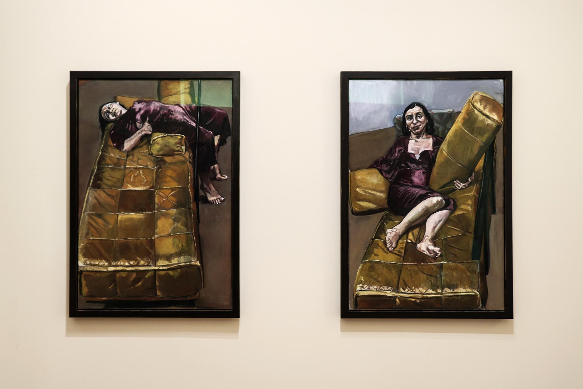 """Sete quadros do políptico """"Possessão"""" estão na exposição de Paula Rego em Serralves."""