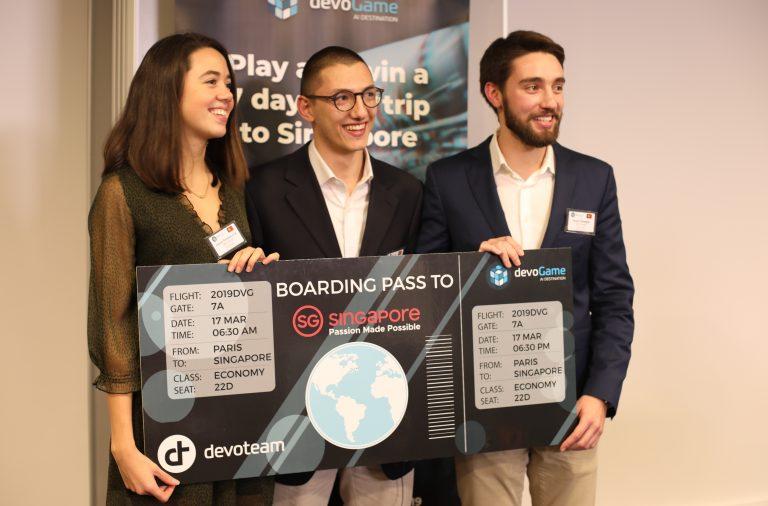 Leonor Sá, Álvaro Samagaio e Diogo Malafaya venceram competição com proposta de uma aplicação capaz de combater 'Fake News'.