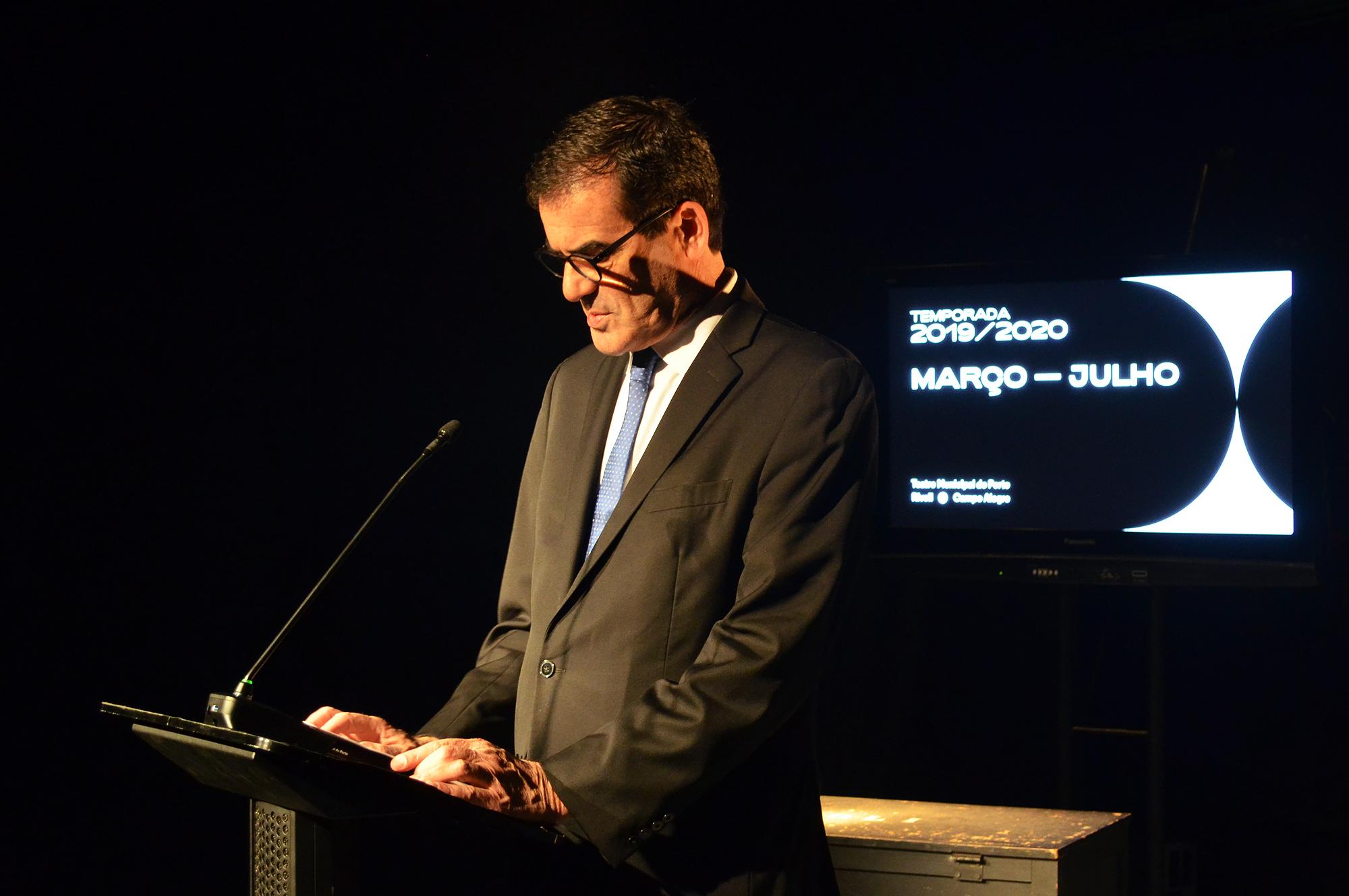 Rui Moreira, autarca do Porto, marcou presença na apresentação da programação do TMP entre março e julho.