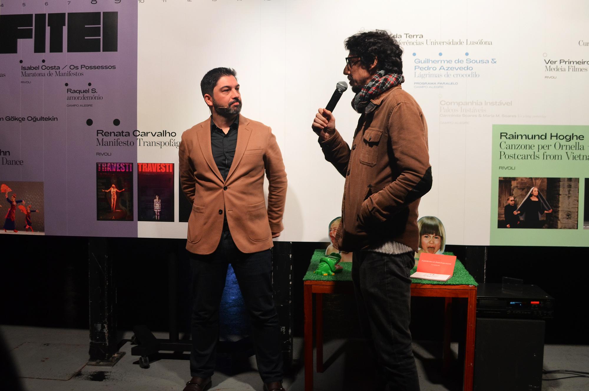 Tiago Guedes e Gonçalo Amorim, diretor do FITEI destacaram a renovada parceria DDD - FITEI.