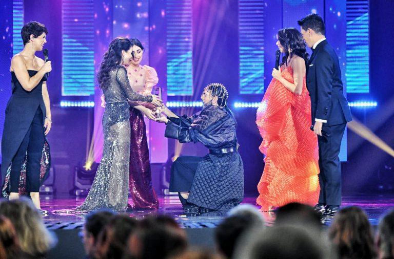 """Elisa foi a vencedora do Festival da Canção, com """"Medo de Sentir""""."""