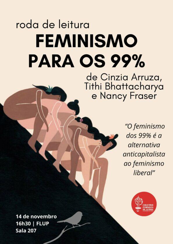 """A primeira sessão do Coletivo Feminista de Letras explorou o livro """"Feminismo para os 99%""""."""