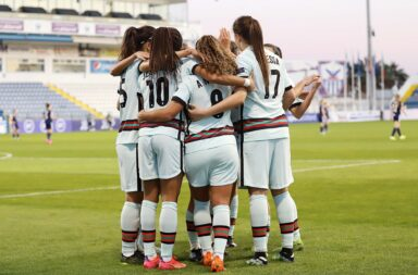 Apesar da vitória, Portugal vai ter de disputar o playoff de apuramento para o Europeu de Futebol Feminino de 2022.