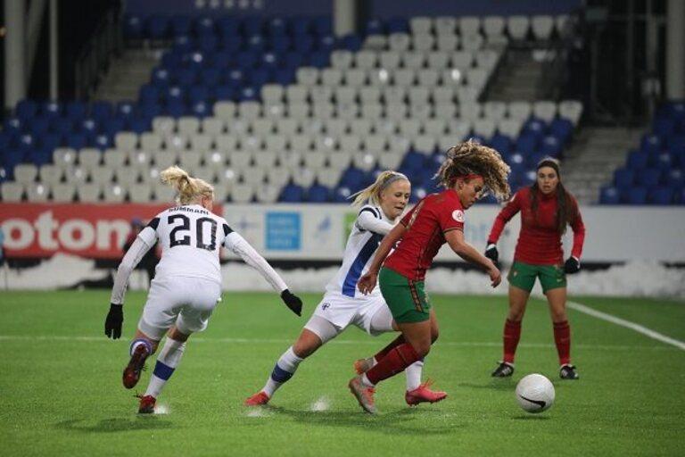Andreia Norton foi das melhores jogadoras de Portugal no encontro.